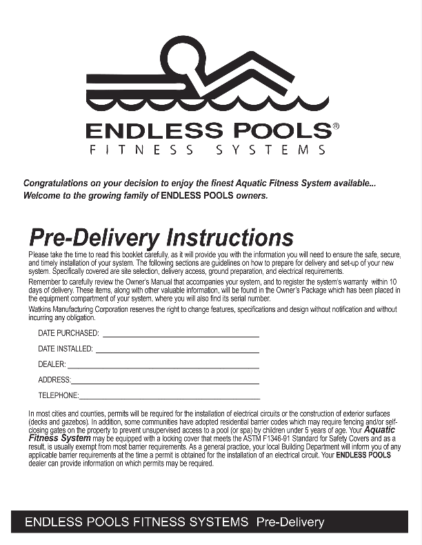 2019 Endless Pre-Delivery Guide