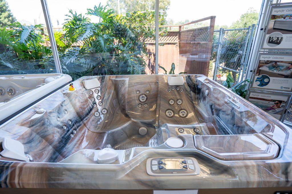 Luxury Hot Tub on display