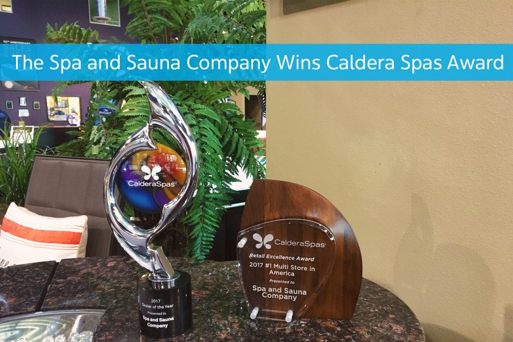 Hot Tub Dealer Reno, The Spa and Sauna Company Wins Caldera Spas 2017 North American Dealer of the Year Award