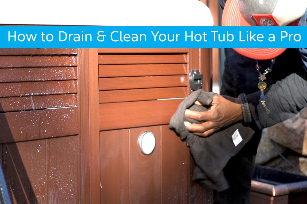 Technicians Drains Hot Tub