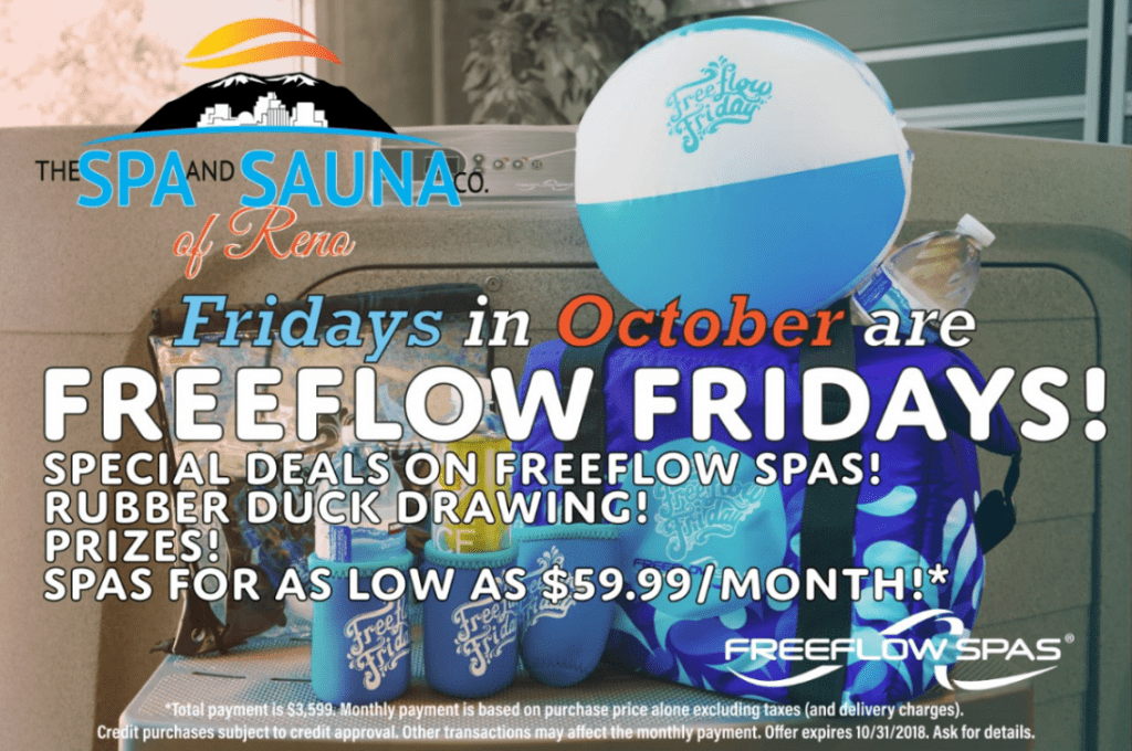 Freeflow Friday Sale at The Spa and Sauna Co.