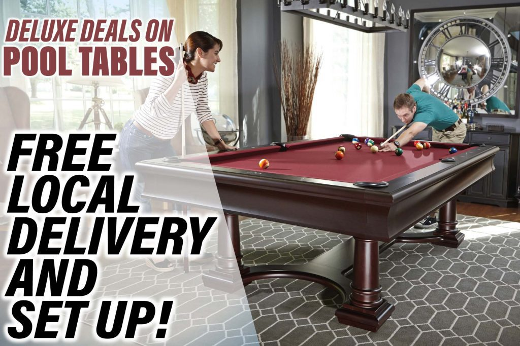 Pool Table Free Local Delivery and Set Up Landing Page