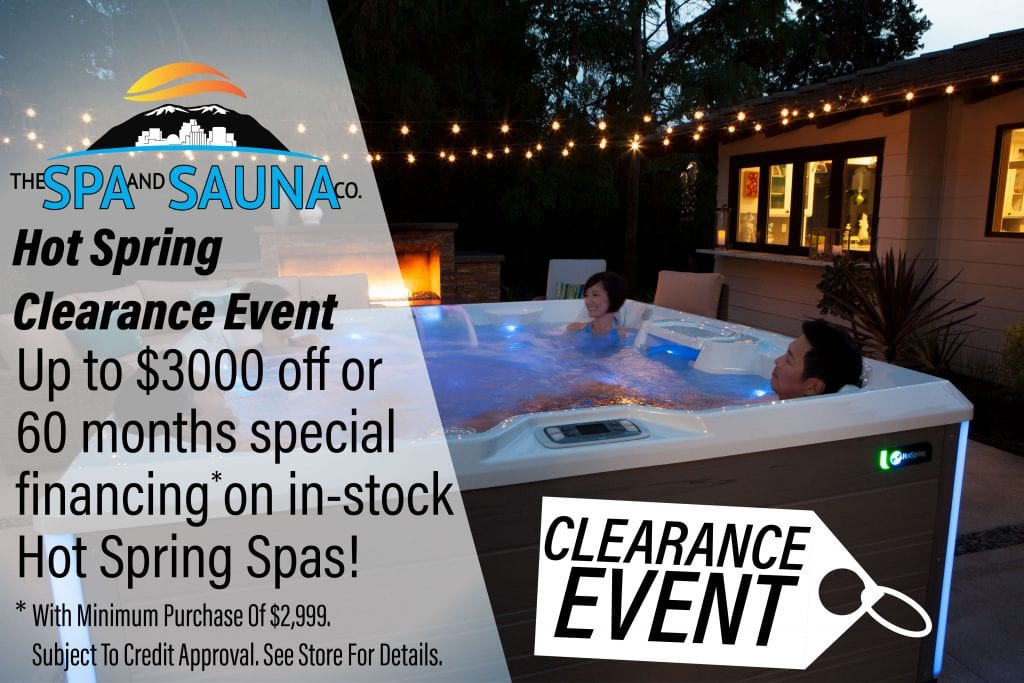 Hot Spring Clearance Sale