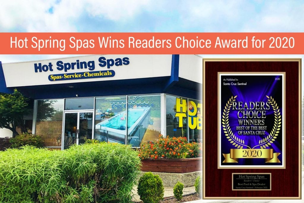Hot Spring Spas Wins Readers Choice Award for 2020 - Best Pool & Spa Dealer