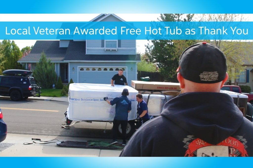 Local Veteran Awarded Free Hot Tub as a Thank You for His Service!