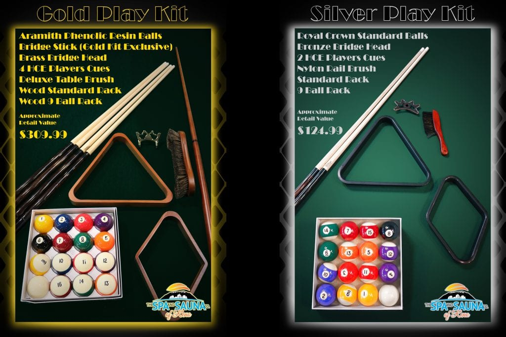 Pool Table Play Kit Options