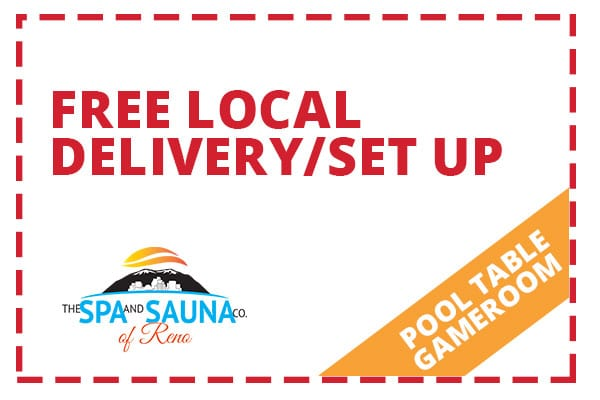 Free Local Delivery Set Up Pool Table Coupon
