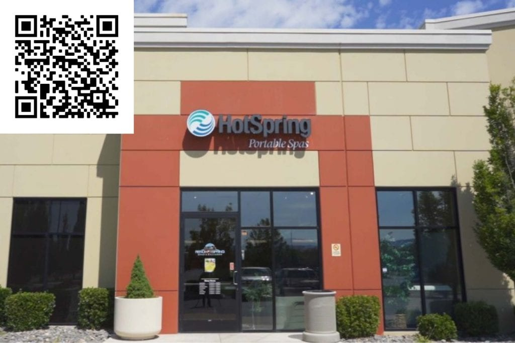 Review our Sierra Center Store. Scan the QR Code to get started - Hot Tubs Reno