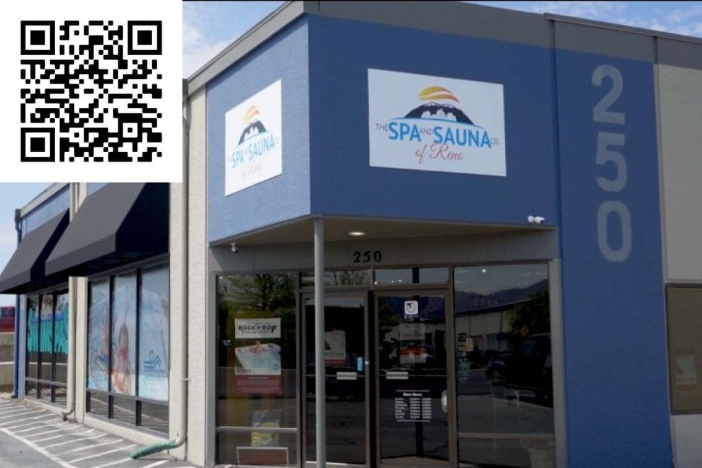 Review our Sparks store on Google. Scan the QR Code. Hot Tubs Sparks
