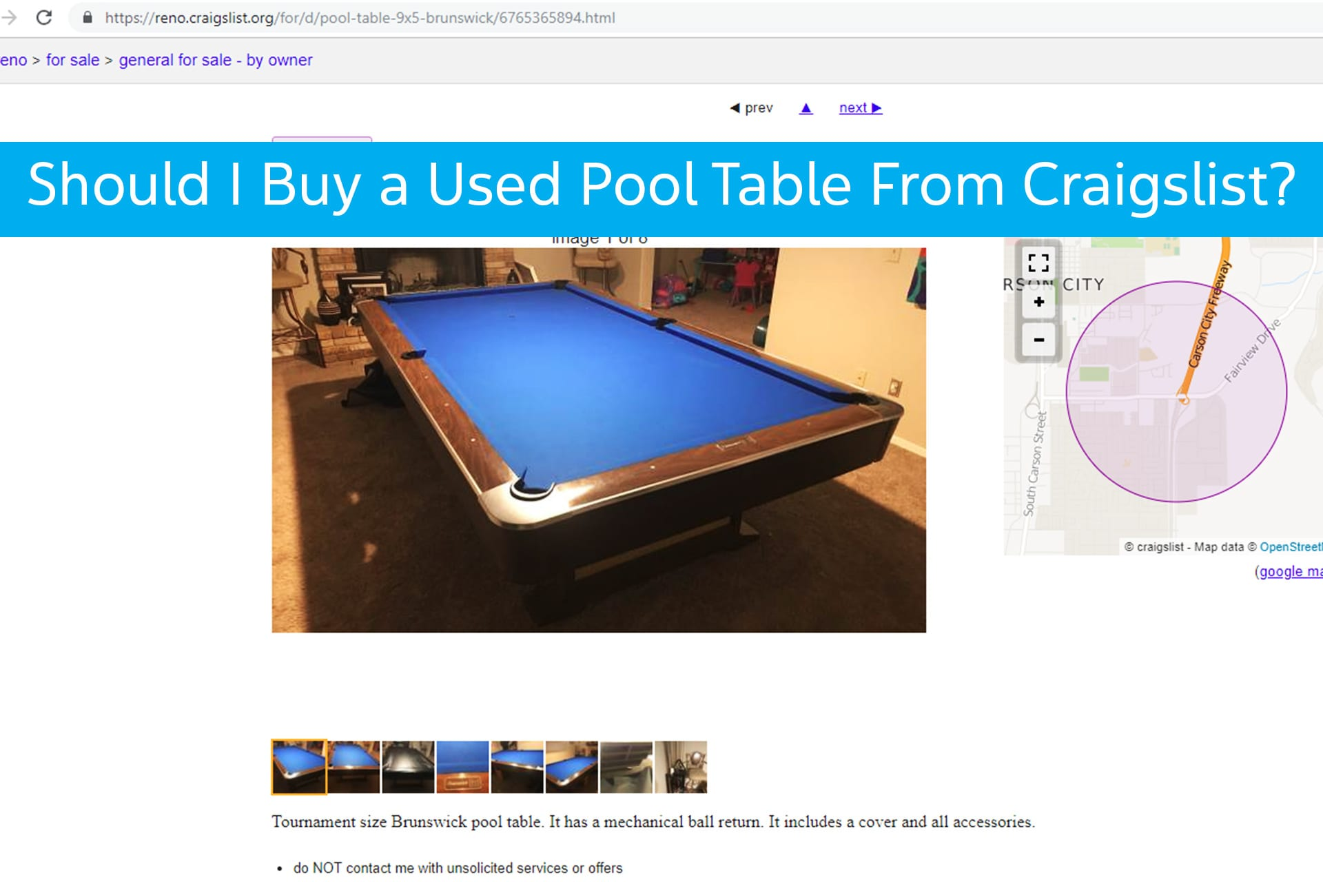 should you buy a used pool table from craigslist. Black Bedroom Furniture Sets. Home Design Ideas