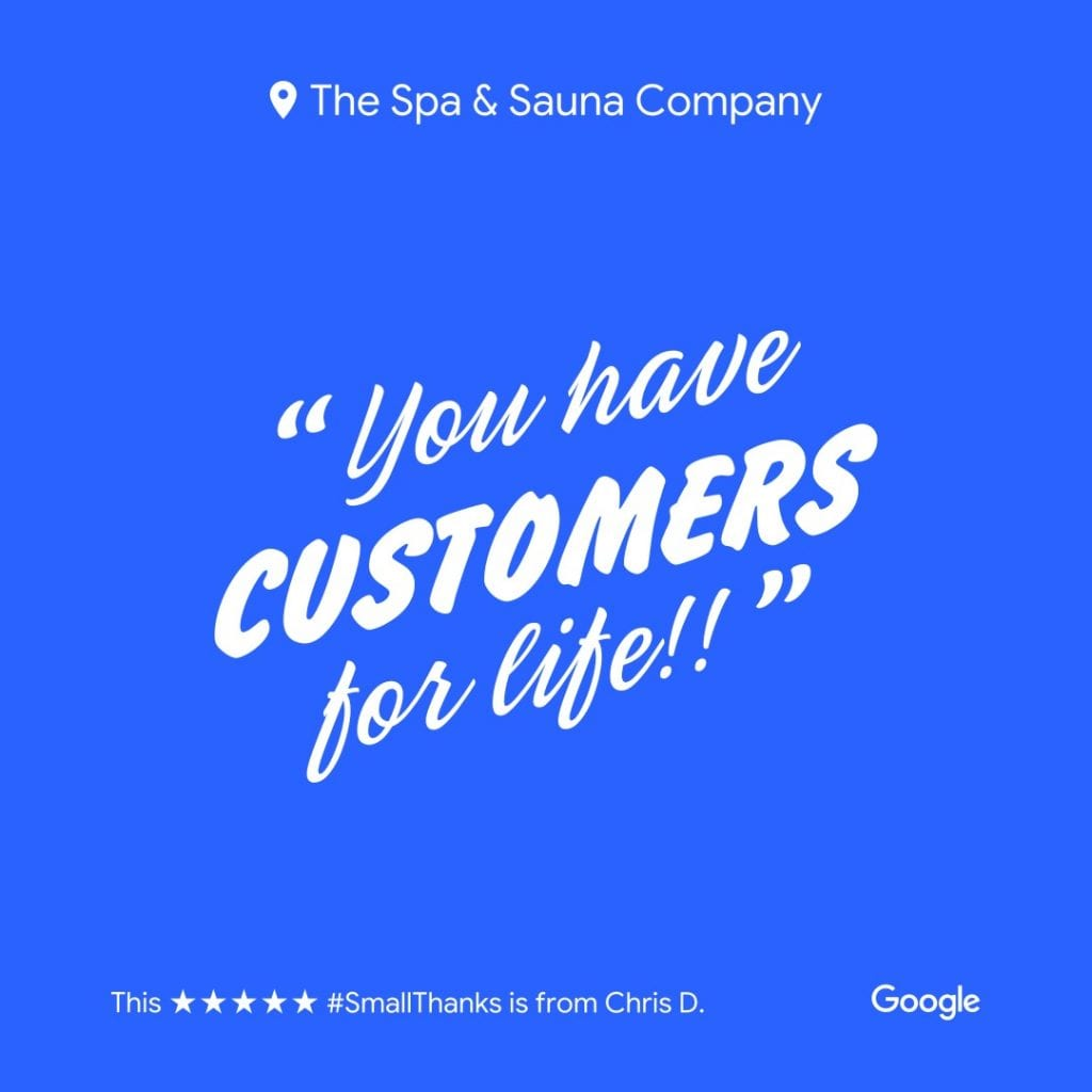 The Spa and Sauna Co - Customers for Life
