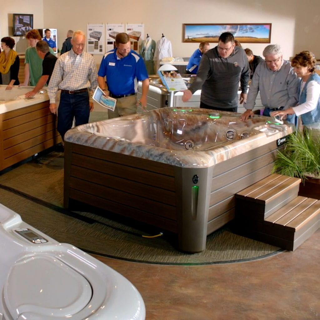 People Shopping for a hot tub