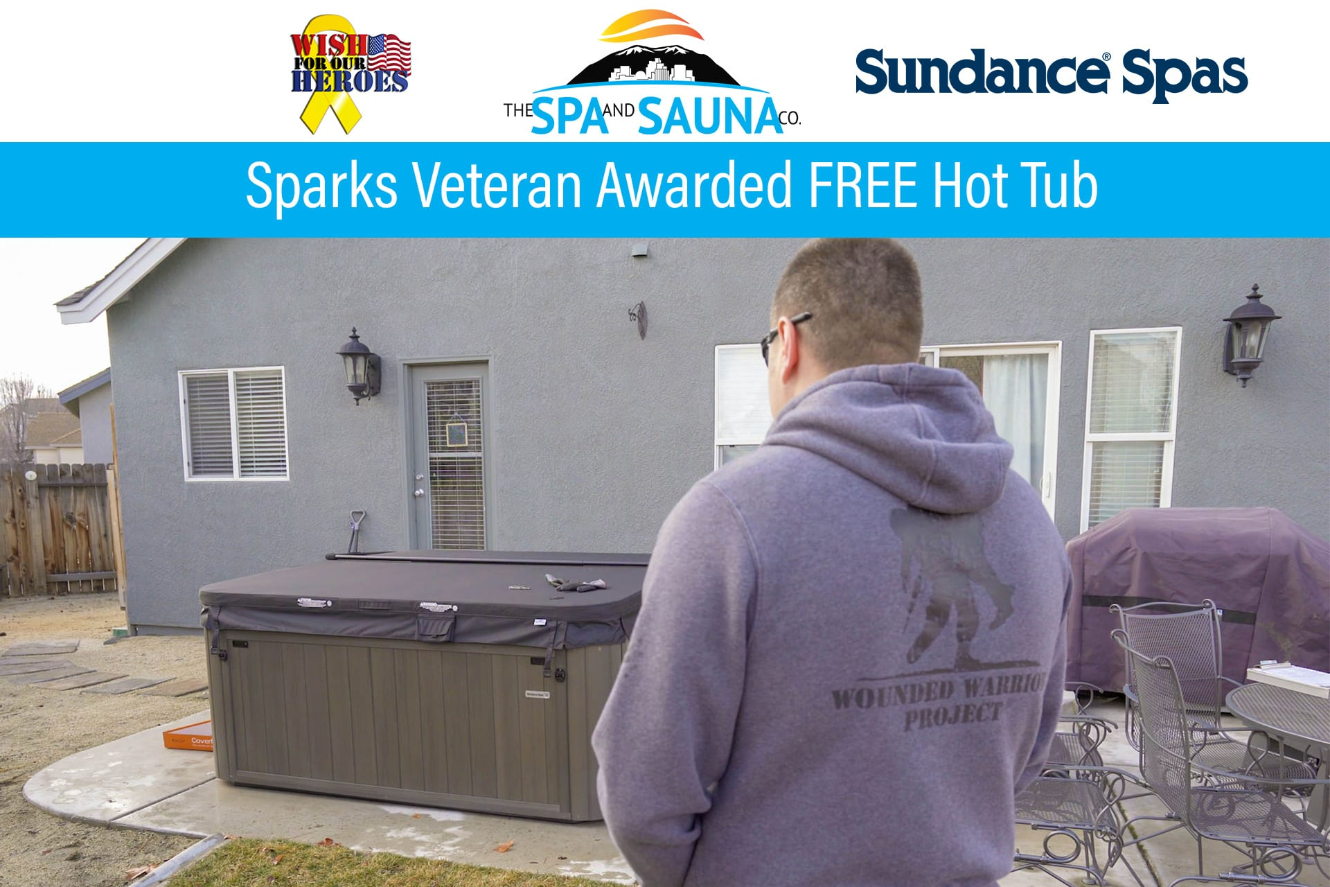 Free Hot Tub >> Sparks Veteran Awarded Free Spa From Spa And Sauna Co