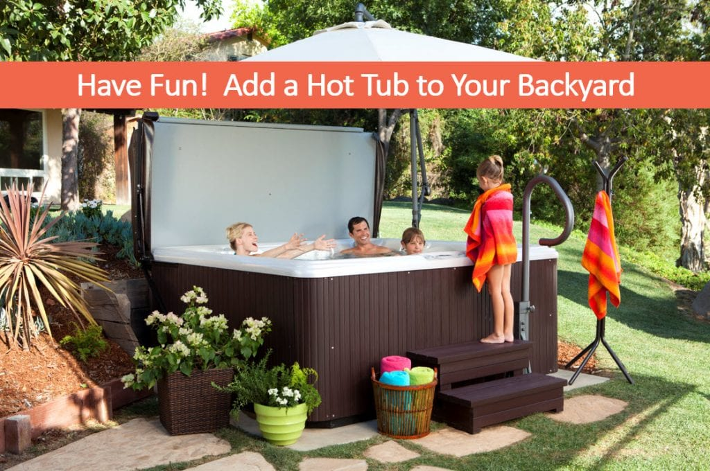 Backyard Hottub have fun! add a portable spa to the backyard, hot tub sale reno