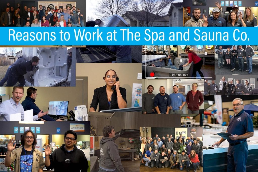 Reasons to Work at The Spa and Sauna Co.
